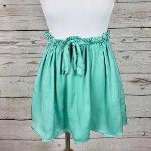 Talula Green Tie Waist Mini Skirt